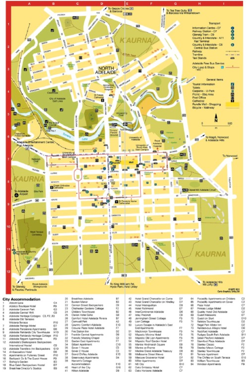 Adelaide City Map